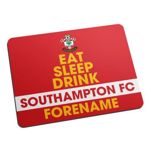 Southampton FC Eat Sleep Drink Mouse Mat