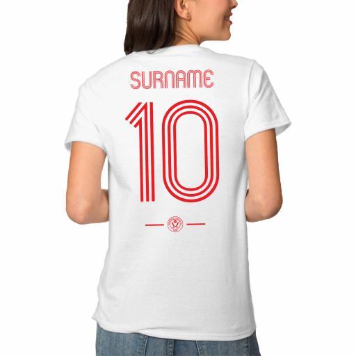 Sheffield United FC Retro Shirt Ladies T-Shirt