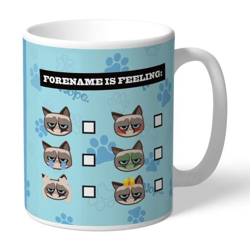 Grumpy Cat Emoji - Feeling Mug Blue