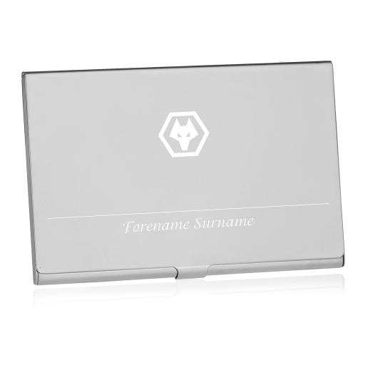 Personalised Wolves Executive Business Card Holder.