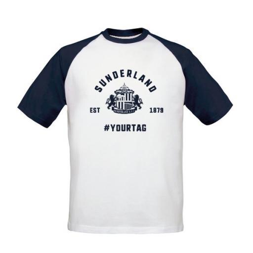 Sunderland AFC Vintage Hashtag Baseball T-Shirt