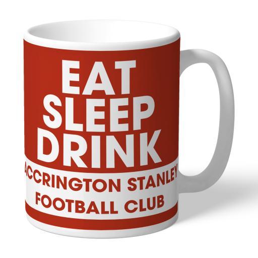 Accrington Stanley Eat Sleep Drink Mug
