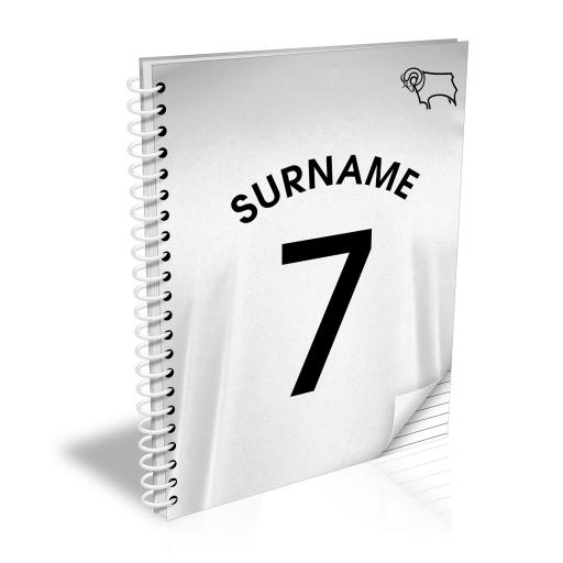 Derby County Shirt Notebook