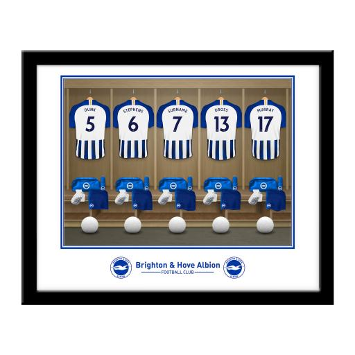 Brighton & Hove Albion FC Dressing Room Framed Print