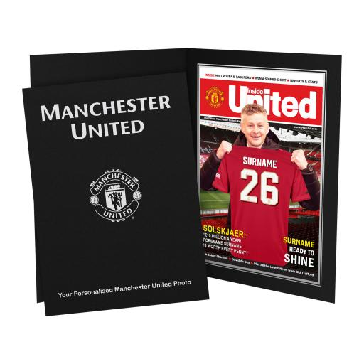 Manchester United FC Magazine Front Cover Photo Folder