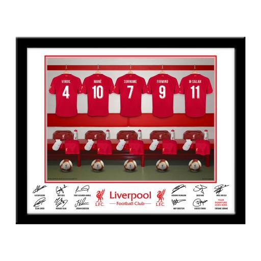 Liverpool FC Dressing Room Framed Print
