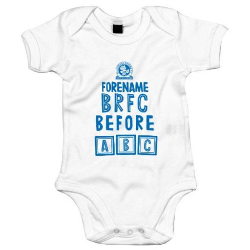 Personalised Blackburn Rovers FC Before ABC Baby Bodysuit.