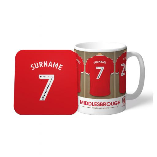 Middlesbrough FC Dressing Room Mug & Coaster Set