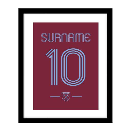 West Ham United FC Retro Shirt Print
