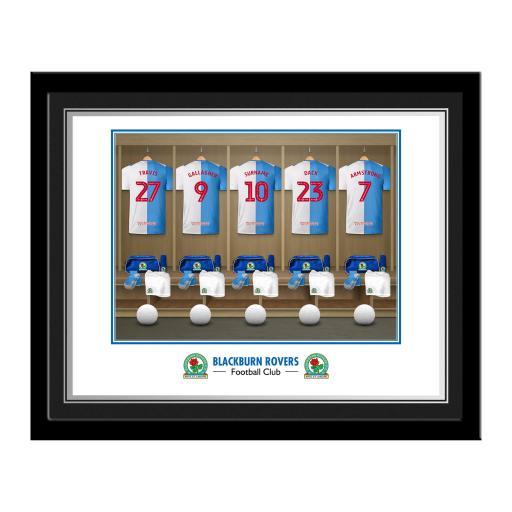 Blackburn Rovers FC Dressing Room Photo Framed