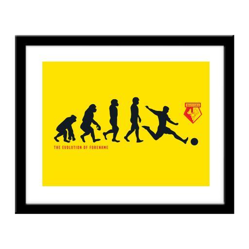 Watford FC Evolution Print