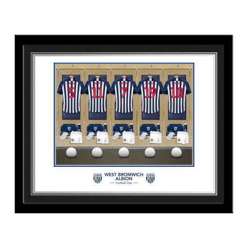 Personalised West Bromwich Albion FC Dressing Room Photo Framed.