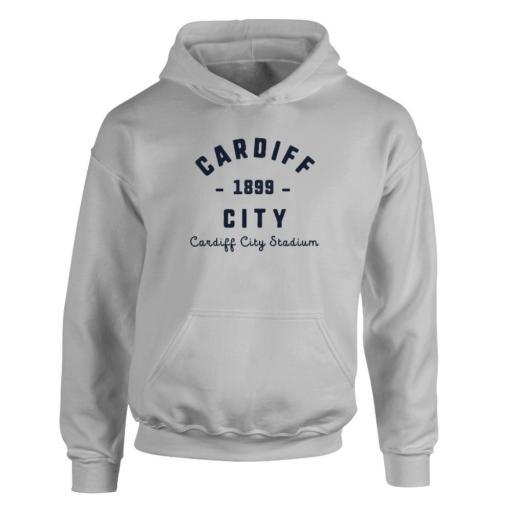 Personalised Cardiff City FC Stadium Vintage Hoodie.