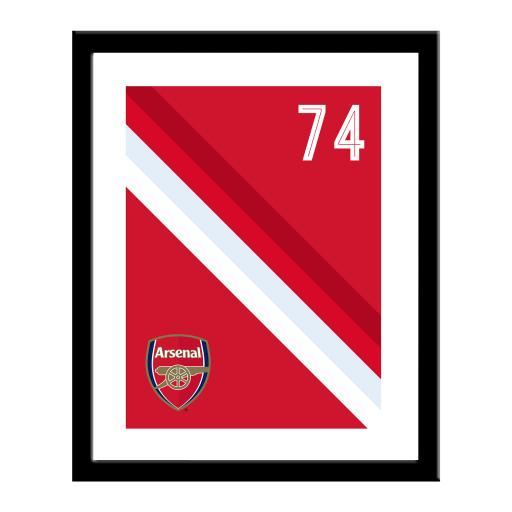 Arsenal FC Stripe Print