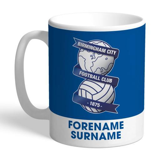 Personalised Birmingham City Bold Crest Mug.