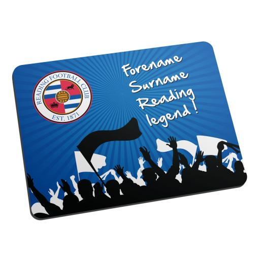 Personalised Reading FC Legend Mouse Mat.