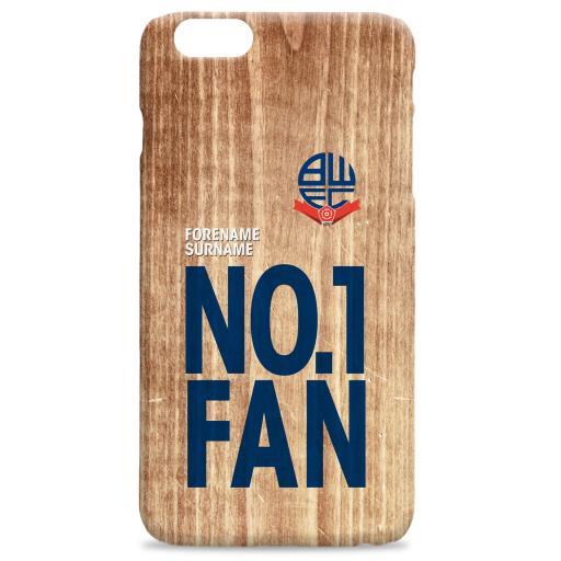 Bolton Wanderers FC No 1 Fan Hard Back Phone Case