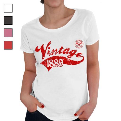 Brentford FC Ladies Vintage T-Shirt