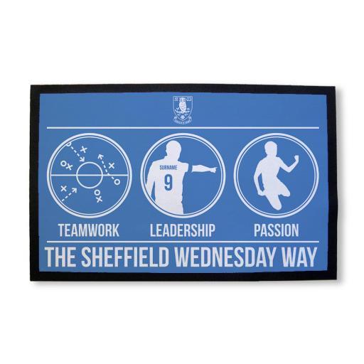 Personalised Sheffield Wednesday FC Way Door Mat.