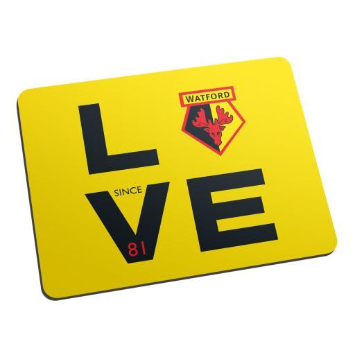 Watford FC Love Mouse Mat