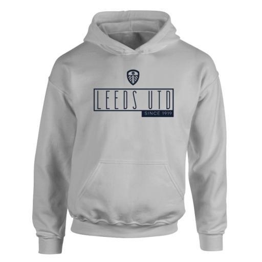 Personalised Leeds United FC Art Deco Hoodie.
