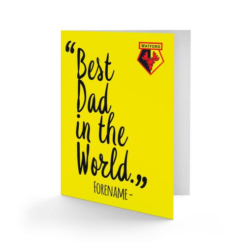 Watford FC Best Dad In The World Card
