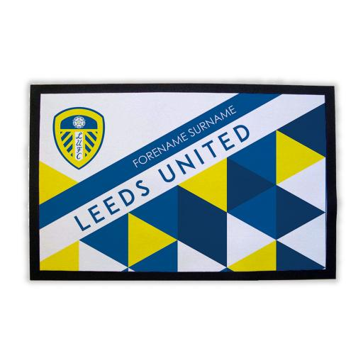 Leeds United FC Patterned Door Mat