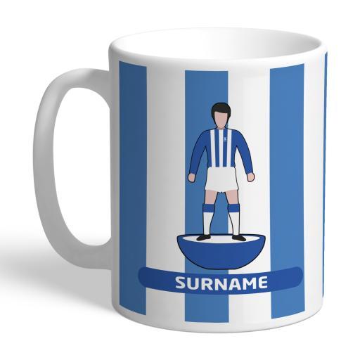 Personalised Sheffield Wednesday Player Figure Mug.