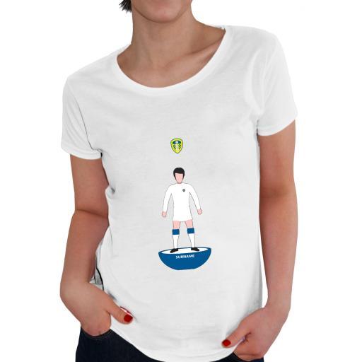 Personalised Leeds United FC Player Figure Ladies T-Shirt.