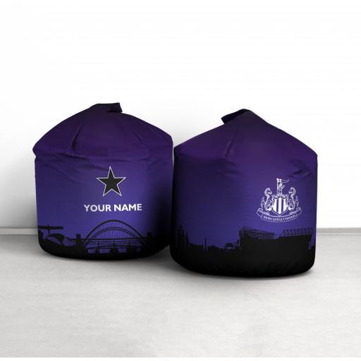 Personalised Newcastle United FC North Star Bean Bag.
