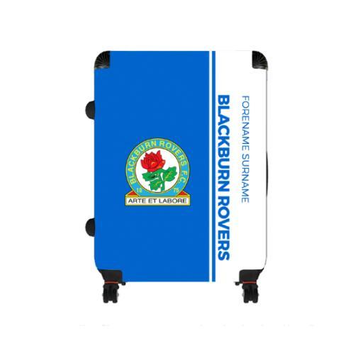 Personalised Blackburn Rovers Crest Large Suitcase.