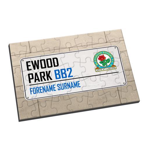 Blackburn Rovers FC Street Sign Jigsaw