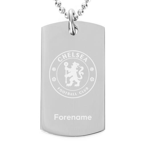 Chelsea FC Crest Dog Tag Pendant
