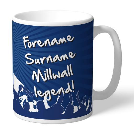 Personalised Millwall FC Legend Mug.
