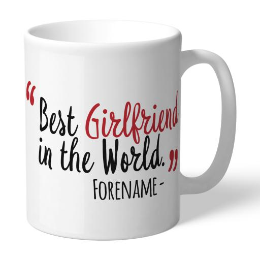 Personalised Middlesbrough Best Girlfriend In The World Mug.