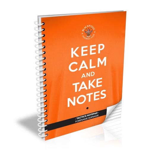 Blackpool FC Keep Calm Notebook