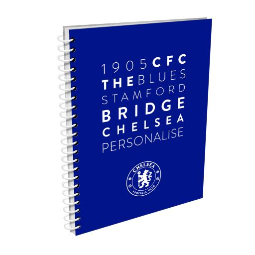 Chelsea FC Word Collage A4 Lined Notepad