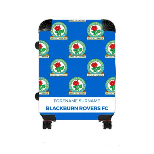 Personalised Blackburn Rovers Mini Crest Medium Suitcase.