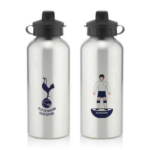 Personalised Tottenham Hotspur Player Figure Water Bottle.