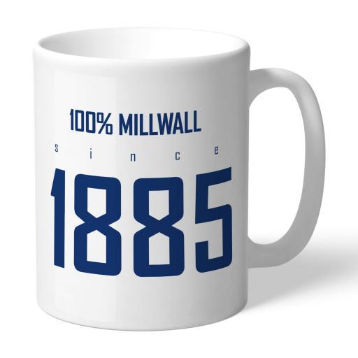 Personalised Millwall FC 100 Percent Mug.