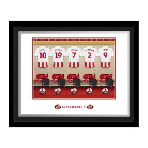 SAFC Dressing Room Photo Framed