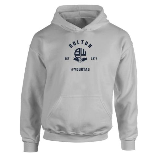 Bolton Wanderers FC Vintage Hashtag Hoodie