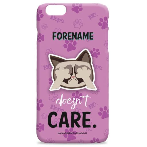 Grumpy Cat Emoji - Doesn't Care iPhone Case Pink
