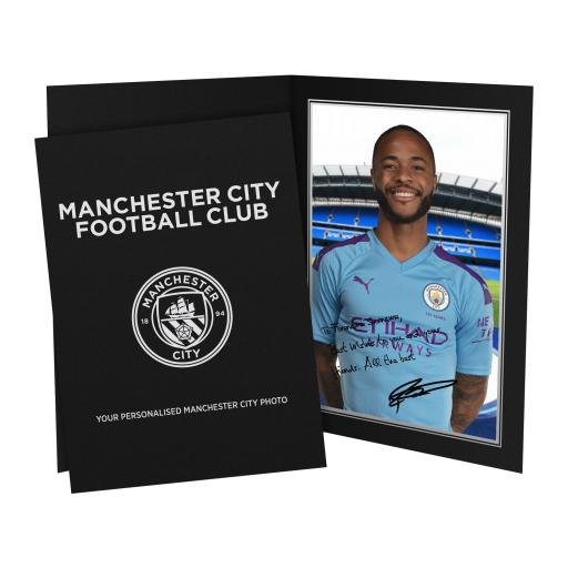 Manchester City FC Sterling Autograph Photo Folder