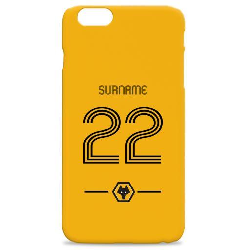 Wolverhampton Wanderers Retro Shirt Hard Back Phone Case