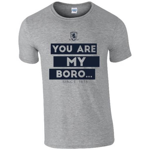 Personalised Middlesbrough FC Chant T-Shirt.