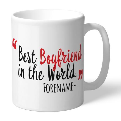 Personalised Sheffield United Best Boyfriend In The World Mug.