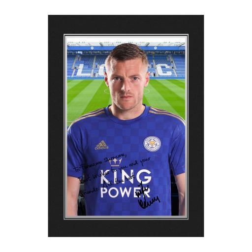 Leicester City FC Vardy Autograph Photo Folder