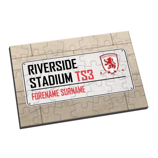 Middlesbrough FC Street Sign Jigsaw