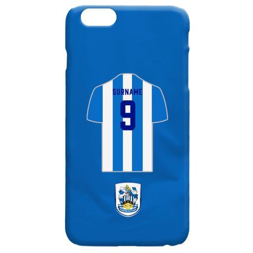 Personalised Huddersfield Town Shirt Hard Back Phone Case.